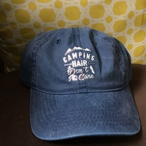 """Accessories - """"Camping Hair Don't Care"""" Baseball Hat"""